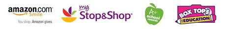 amazon stop and shop a plau rewards box top education logos