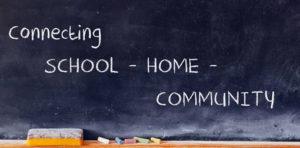 chalk board connecting school home community