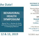 Save the Date – SCRO Behavioral Health Symposium